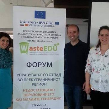 Центарот за климатски промени од Гевгелија со едукација како младите да управуваат со отпадот